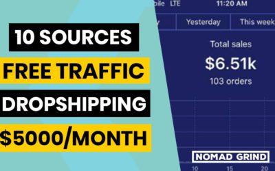 10 Dropshipping FREE TRAFFIC Hacks (Marketing Tips)