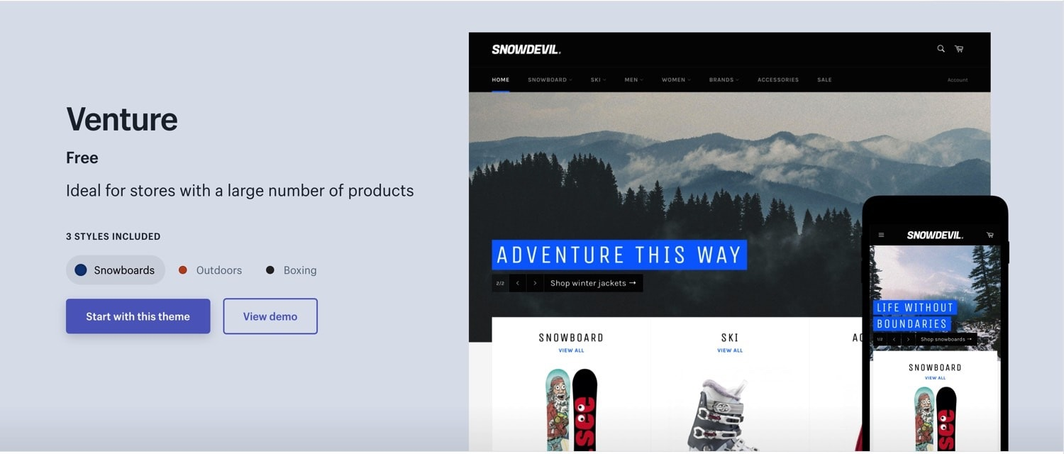 11 Best Shopify Free Themes 2019 - Nomad Grind
