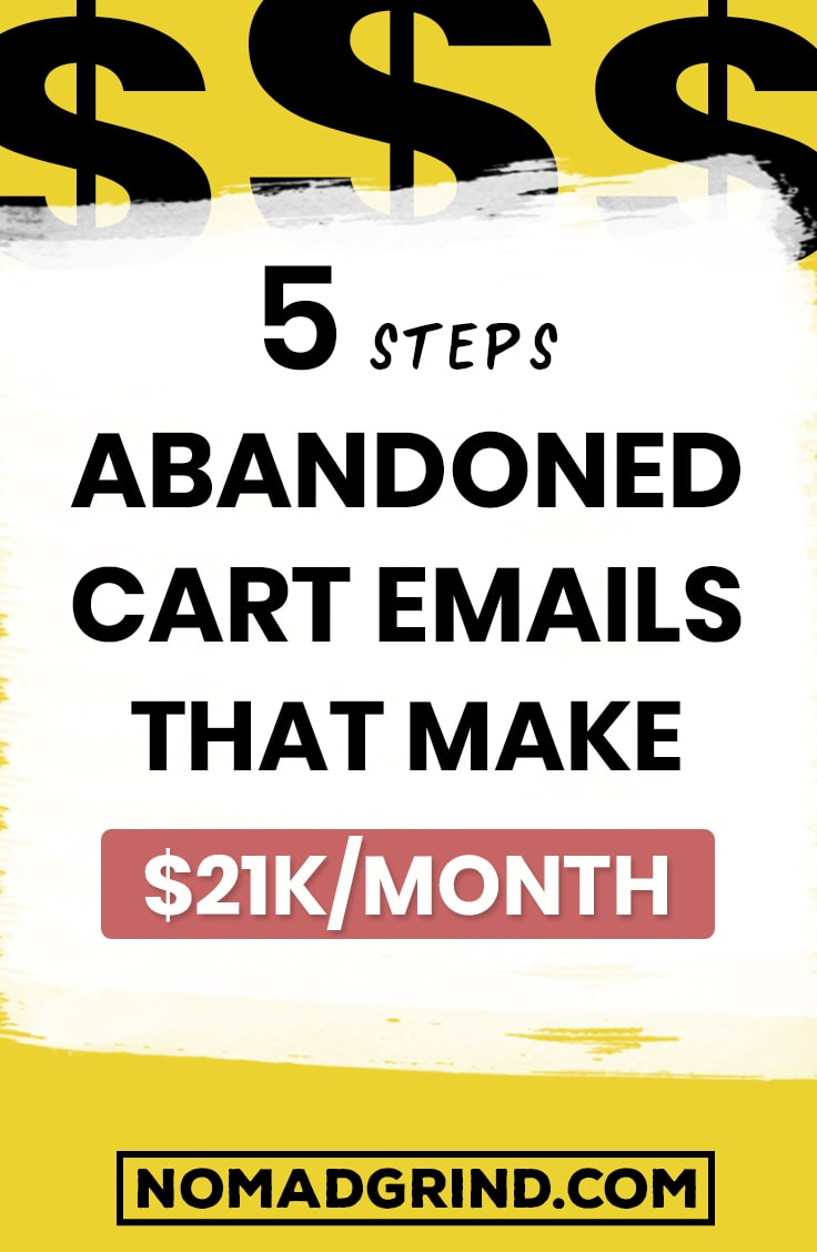 Abandoned Cart Emails That Make $21 000